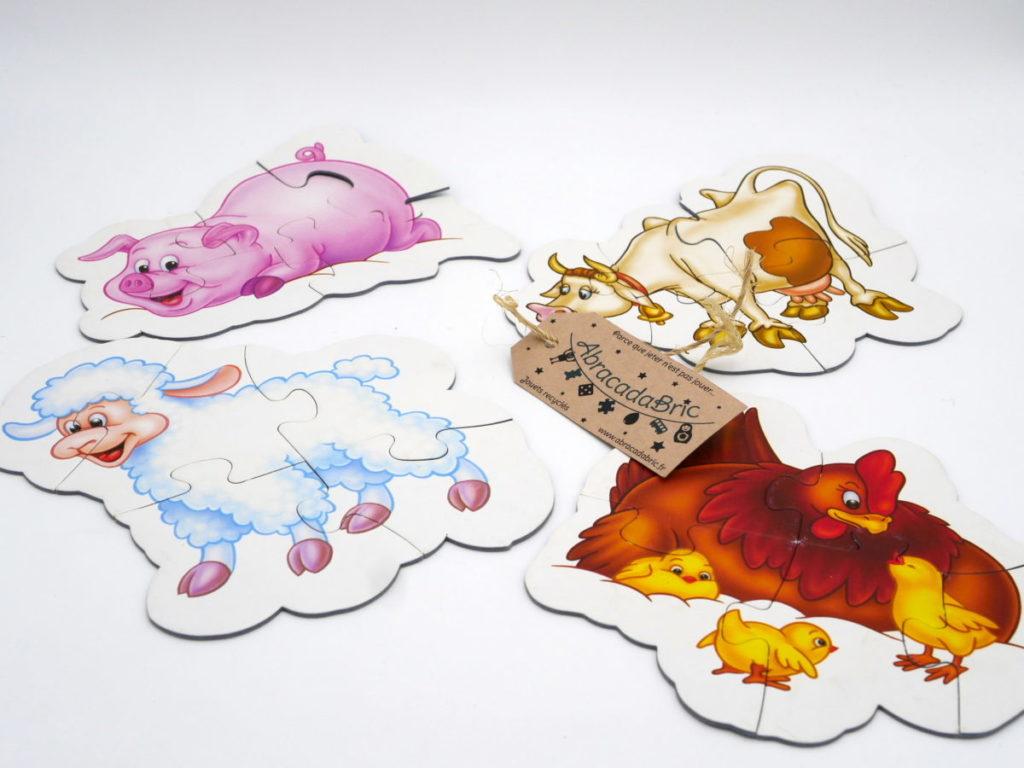 Puzzle formes 1er age «animaux de la ferme»- PLAYLAND