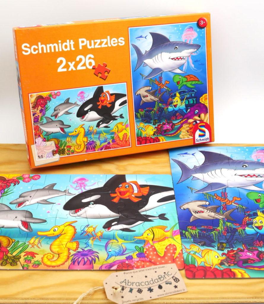 Puzzle «orque et requin» 2x26p – SCHMIDT