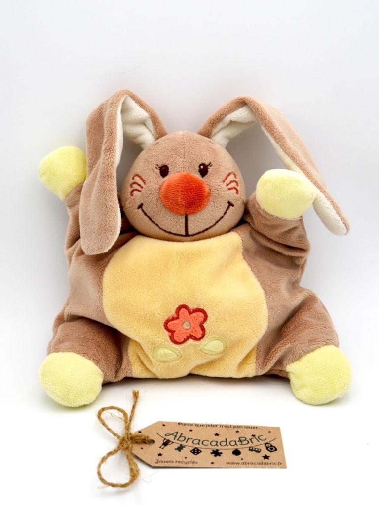 Doudou lapin beige et jaune 25cm – NATTOU