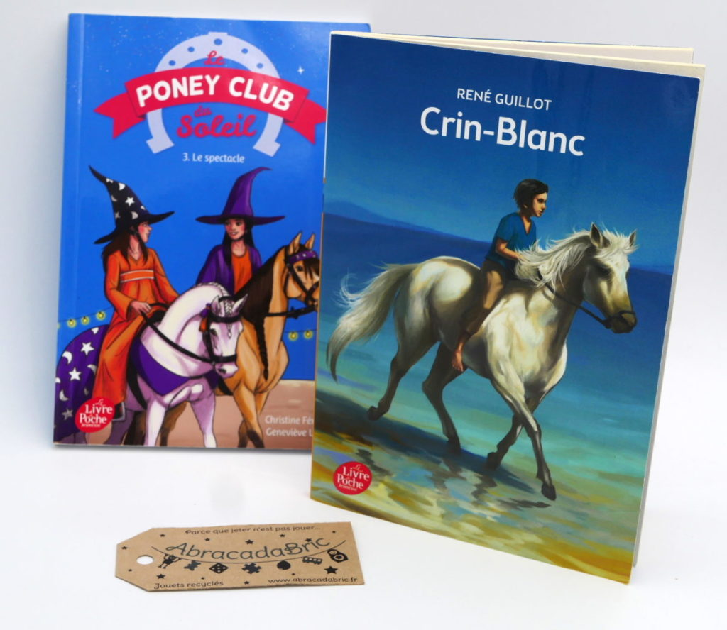 Lot x2 Crin blanc et Poney club du soleil – LiVRE DE POCHE